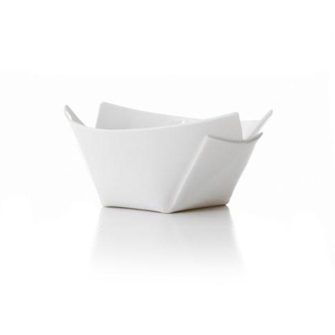 Nudel skål, hvid